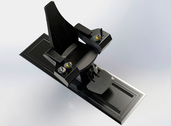 Aukra Maritime multi-control chair for deck equipment